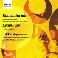Khachaturian & Lyapunov: Works for Violin & Orchestra