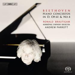 Beethoven – Piano Concertos in D, Op. 61 & No.4