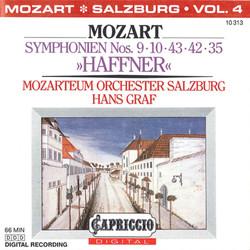Mozart: Symphonien Nos. 9, 10, 43, 42 & 35,