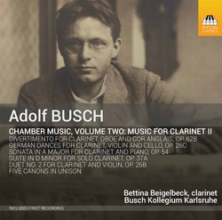 Busch: Chamber Music, Vol. 2 – Music for Clarinet II