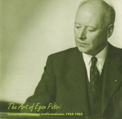 The Art of Egon Petri (1922-1960)