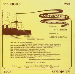 Sullivan: HMS Pinafore