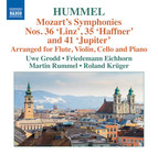 Mozart: Symphonies Nos. 35, 36 & 41 (Arr J.N. Hummel)