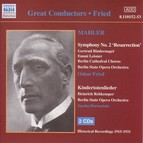Mahler: Symphony No. 2  / Kindertotenlieder (Fried) (1915-1931)