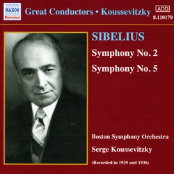 Sibelius: Symphonies Nos. 2 and 5 (Koussevitzky) (1935-1936)