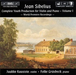 Sibelius - Complete Youth Production for Violin and Piano, Vol.1