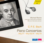 C.P.E Bach: Piano Concertos, Wq. 17, 43/4 & 14