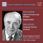Wagner: Opera Overtures / Brahms: Academic Festival Overture (Boston Symphony / Koussevitzky) (1946-1949)
