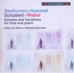 Beethoven, Hummel, Schubert & Weber: Sonatas and Variations for flute and piano