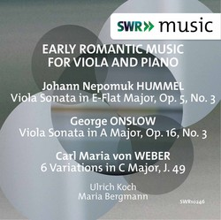 Early Romantic Music for Viola & Piano