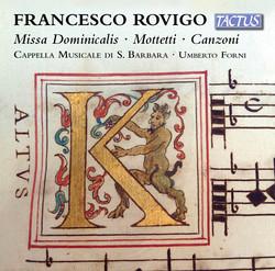 Rovigo: Missa Dominicalis, Motetti & Canzoni