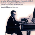 A Recital of Twentieth Century Harpsichord Music (1961)
