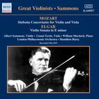 Mozart: Sinfonia Concertante / Elgar: Violin Sonata (Sammons) (1926-1935)