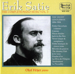 Satie: Complete Piano Music, Vol. 3
