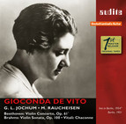 Gioconda de Vito plays Beethoven, Brahms & Vitali