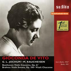 Gioconda de Vito plays Beethoven, Brahms & Vitali