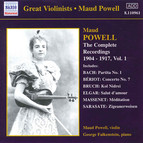 Powell,  Maud: Complete Recordings, Vol.  1 (1904-1917)
