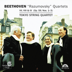 "Beethoven: String Quartets VII, VIII & IX (Op. 59, Nos. 1–3) ""Dedicated to Count Razumovsky"""