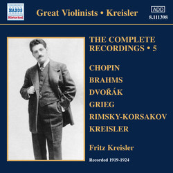 Kreisler: Complete Recordings, Vol. 5 (1919-1924)
