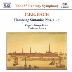 Bach, C.P.E.: Hamburg Sinfonias Nos. 1 - 6, Wq. 182