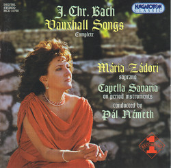 Bach, J.C.: Vauxhall Songs (Complete)