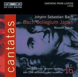 J.S. Bach - Cantatas, Vol.16 (BWV 194, 119)