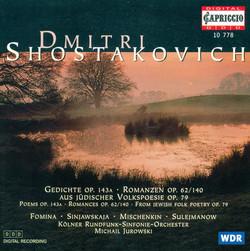 Shostakovich, D.: 6 Verses / 6 Romances / From Jewish Folk Poetry