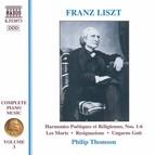 Liszt: Harmonies Poetiques Et Religieuses Nos. 1-6