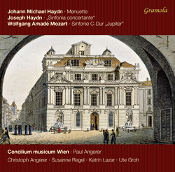 M. Haydn: 6 Minuetti, (P. 70) - J. Haydn: Sinfonia concertante, Hob. I:105 - Mozart: Symphony No. 41, K. 551