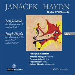 Janáček: String Quartet No.2 'Intime Briefe' / Haydn: String Quartet Op 76 No.3 'Kaiserquartett' / Pellegrini Quartet