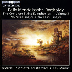 Mendelssohn - The Complete String Symphonies, Vol.3