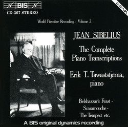 Sibelius - Complete Piano Transcriptions, Vol.2