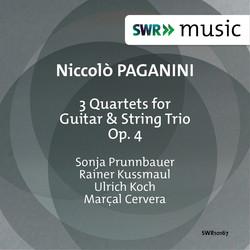 Paganini: 3 Quartets for Guitar & String Trio, Op. 4