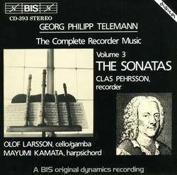 Telemann - Complete Recorder Music, Vol.3