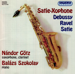 Debussy / Satie / Ravel: Transcriptions for Saxophone, Clarinet and Piano