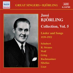 Björling, Jussi: Björling Collection, Vol. 5: Lieder and Songs (1939-1952)