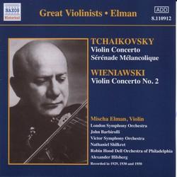 Tchaikovsky / Wieniawski: Violin Concertos (Elman) (1929, 1950)