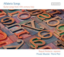 Alfabeto Songs: Guitar songs from 17th-century Italy