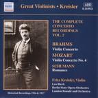 Mozart / Brahms: Violin Concertos, Vol. 2 (Kreisler) (1924, 1927)