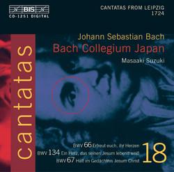 J.S. Bach - Cantatas, Vol.18 (BWV 66, 134, 67)