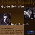 Kodaly: Duo / Cello Sonata