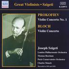 Prokofiev / Bloch: Violin Concertos (Szigeti) (1935, 1939)