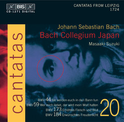 J.S. Bach - Cantatas, Vol.20 (BWV 184, 173, 59, 44)