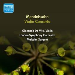 Mendelssohn, F.: Violin Concerto in E Minor (De Vito, Sargent) (1951)