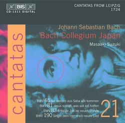 J.S. Bach - Cantatas, Vol.21 (BWV 65, 81, 83, 190)