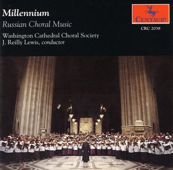 Choral Concert: Washington Cathedral Choral Society - Galuppi, B. / Arkhangelsky, A. / Tchaikovksy, P.I. / Bortniansky, D. (Russian Choral Music)