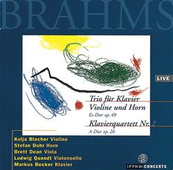 Brahms: Horn Trio Op.40 / Piano Quartet No.2 Op.26