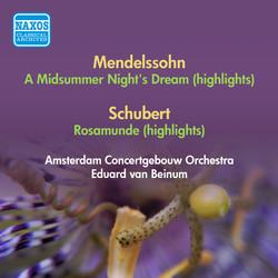 Mendelssohn, F.: Midsummer Night's Dream (A) (Excerpts) / Schubert, F.: Rosamunde (Excerpts) (Beinum) (1952)