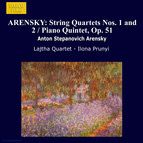 Arensky: String Quartets Nos. 1 and 2 / Piano Quintet, Op. 51