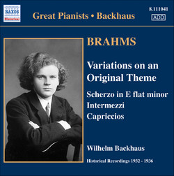 Brahms: Solo Piano Works (Backhaus) (1932-1936)